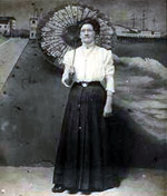 On the Boardwalk in 1909, you could have your picture taken against a background like this.