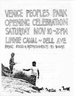 Venice Peoples Park Opening Celebration flyer